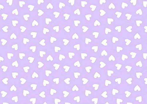 SheetWorld Fitted Pack N Play (Graco) Sheet - Hearts Pastel Lavender Woven - Made In USA by SHEETWORLD.COM (Image #2)