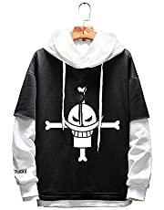 C_EDITION Anime Man Hoodies Unisex Patchwork Sweatshirt Pullover Outerwear Hooded Clothing with AEdward Newgate for Unisex