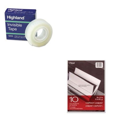 KITMEA40114MMM6200341296 - Value Kit - Mead Black Carbon Mill Finish Paper (MEA40114) and Highland Invisible Permanent Mending Tape (MMM6200341296) by Mead