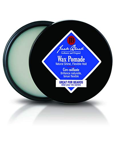 Jack Black - Wax Pomade, 2.75 fl oz - Hair-Styling Pomade, Pliable Hold, Natural Shine, Great for Beards, Tea Tree Leaf Oil, Sage Leaf Extract, Grapefruit Peel Oil, 2.75 Ounce