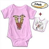 Louis Woodrow V Couple Sheep Unisex Cotton Short Sleeve Baby Onesies Toddler Jumpsuit with Bib