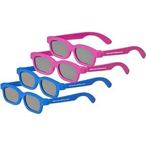 4 Pack KIDS CINEMA 3D GLASSES For LG 3D TVs – 4 TOP QUALITY Children's Kids Sized Genuine Ultimate 3D Heaven Passive Circular Polarized 3D Glasses