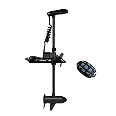 "Black Haswing Helmsman 12V 55LBS 48"" Shaft Bow Mount Trolling Motor, Navigation System, Anchor Position, Cruise Control, Variable Speed, Wireless Remote for Bass Fishing Boats Freshwater and Saltwater"