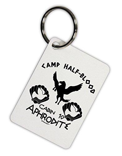 [TooLoud Cabin 10 Aphrodite Camp Half Blood Aluminum Keyring Tag] (God And Goddesses Costume Aphrodite)
