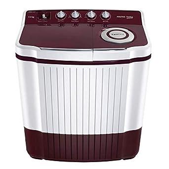 Voltas Beko 7.5 kg Semi-Automatic Top Loading Washing Machine (WTT75DT, Burgundy)