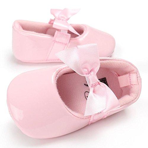 Tefamore La princesa del arco zapatos de bebé Rosado