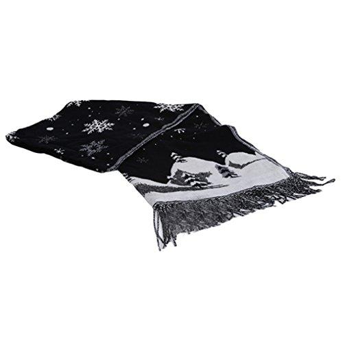Wraps Black Snow ODN for Large Elegant Shawl Scarf Print Christmas Women xI81H