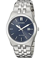 Citizen Mens Eco-Drive Stainless Steel Watch with Date, BM7330-59L
