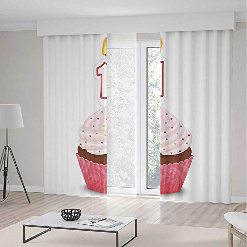 - Decor Collection,1st Birthday Decorations,for Bedroom Living Dining Room Kids Youth Room,Kitchen Cuisine Inspired Pastry Cupcake Party with Candle,141Wx94L Inches