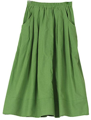 Soojun Womens Casual Pleated Cotton