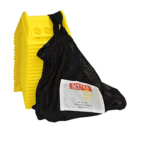 """4"""" Plastic Corner Protectors 4"""" Winch Ratchet Straps Flatbed w/Carrying case-Yellow (20 Pcs (1 Pack))"""