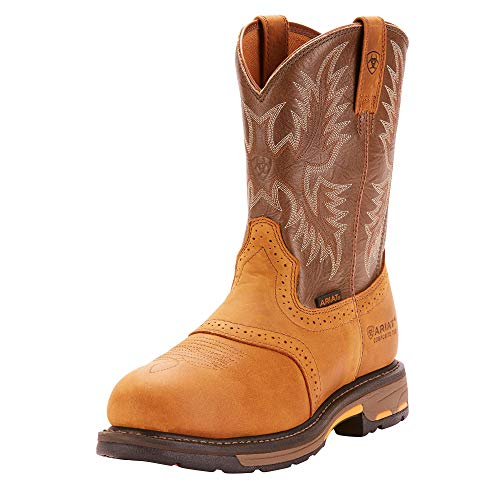 Ariat Mens Workhog Pull-on Ct Clogs/Shoes 7 EE/Wide(Width) Aged Bark (Leather Ariat Clogs)