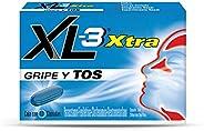XL-3 XTRA GRIPE y TOS, alivia síntomas de la gripe (tos, fiebre, cuerpo cortado, congestión nasal, escurrimien
