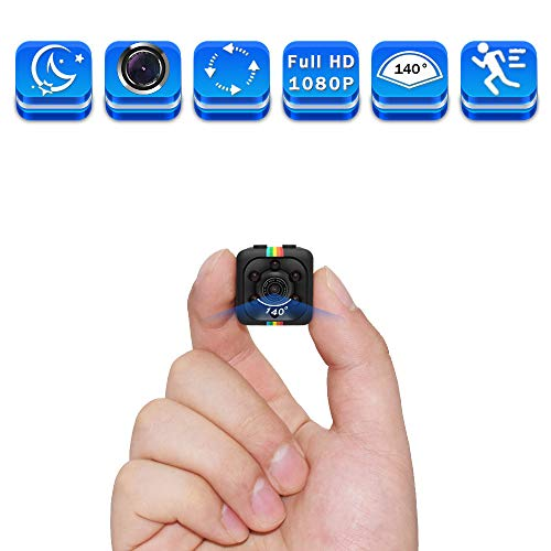 Mini Spy Hidden Camera, Full HD 1080P Smallest Spy Body Camera with Night Vision and Motion Detection, Wireless Nanny Cop Cam for Home Security Monitoring, Action Cam with Loop Recording, ()