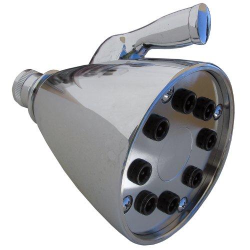 LASCO 08–2267chapado en cromo estilo alcachofa de ducha, con hembra de 1/2-inch rosca de tubo y ocho émbolos, grande