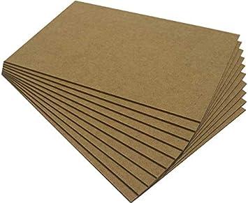 Chely Intermarket, Tablero de madera MDF 30x40cm (2,5mm) (Pack 10 tableros), fabricado a partir de fibras de maderas   Especial para cortes con láser, CNC y calado (558-30x40-0,25)