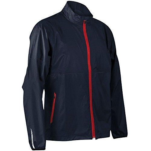 Sun Mountain Mens Cirrus Full Zip Rain Jacket Navy L ()