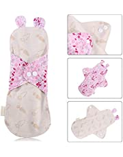 KYK 1PCs 250mm Lady Reusable Cloth Sanitary Napkins Fine 100% Organic Cotton Menstrual Pad Washable Panty Liner Sanitary Period Pads (Color : Type 3)