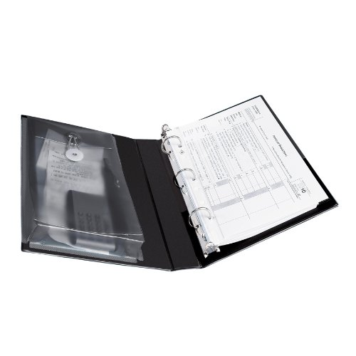 Avery Protect and Store View Binders with 1-Inch Round Ring, Black, 5.5 x 8.5 Inches ()