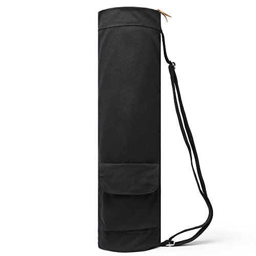 f831d253e37b ELENTURE Full-Zip Exercise Yoga Mat Carry Bag with Multi-Functional Storage  Pockets (Black)