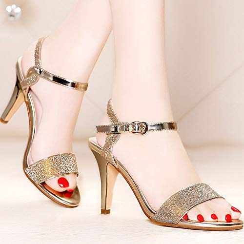 High Fish Summer Thirty Sandals Silvery Heels Sweet Heels Seven KPHY Mouths 8Cm Thin wqXp5w4