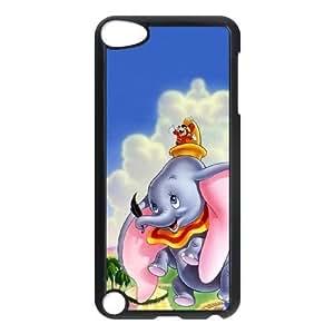 Dumbo J2B7Wt iPod Touch 5 Caso Funda Negro I3U7VR funda Caso modificado para requisitos particulares del teléfono celular único