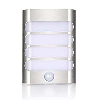 MAZ-TEK Wall Sconce Night Light,PIR LED Motion Sensor Activated Night Light Stick-on Anywhere, Auto On/Off Wall Lamps for Hallway,Pathway,Stairs,Bathroom,Bedroom,Kitchen