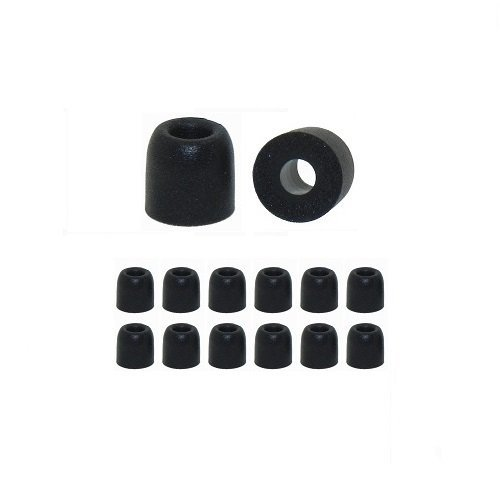 Earphones Plus C-6MF-BKS Memory Foam Earbuds, Replacement Ea