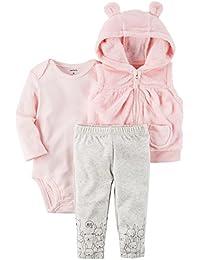 Baby Girls' 3 Piece Bear Cardigan Little Jacket Set