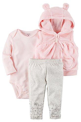 - Carter's Baby Girls' 3 Piece Bear Cardigan Little Jacket Set 24 Months