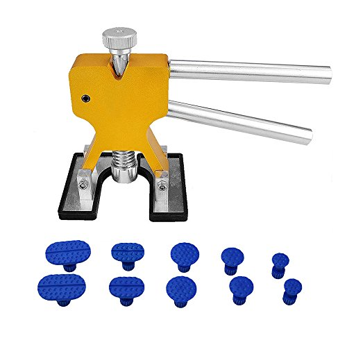 PDR Tools Auto Body Paintless Dent Lifter Tool Dent Removal Repair Tool with 10 Pcs Blue Tabs (Pdr Dent Removal)