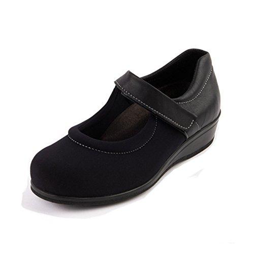 Mujer De Negro Cordones Material Para Zapatos Sintético Sandpiper 5BwqYPRx