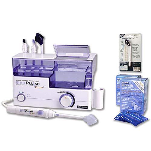 Treatment Elite (SinuPulse Elite Advanced Nasal Sinus Irrigation System with 60 Additional SinuAir Packets, Additional Replacement Sinus Irrigator Tip, and Bonus eBook by Dr. Robert S. Ivker)