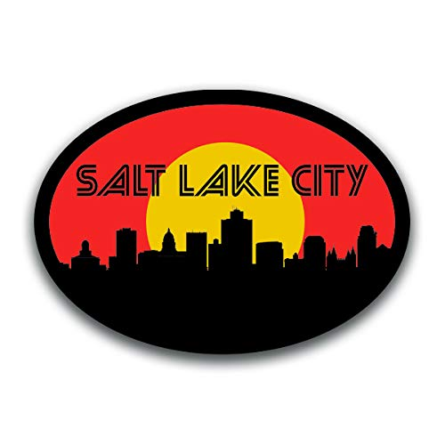 - Salt Lake City Utah Skyline Vinyl Decal Sticker | Cars Trucks Vans SUVs Windows Walls Cups Laptops | Full Color Printed | 5.5 Inch | KCD2593