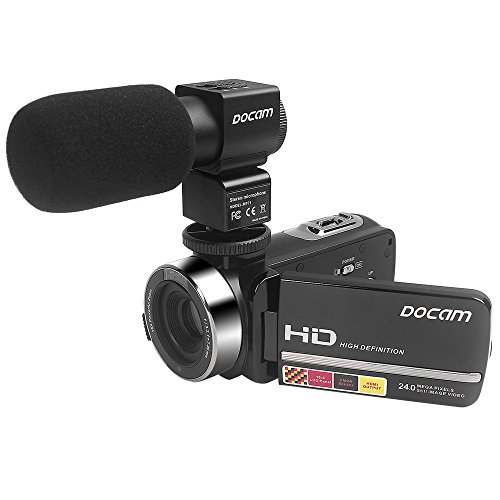Docam Digital Camcorder 1080p Hd Video Camera With External Microphone Night Vision Hdmi (hdv-301)