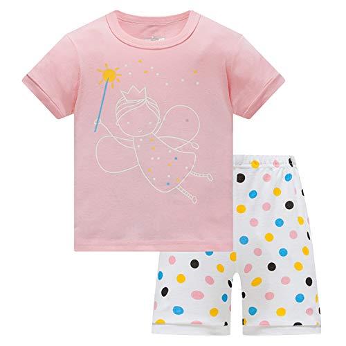 Girls Pajamas Kids Pjs Toddler Cotton Shorts 2-Piece Set Clothes Size 8 -