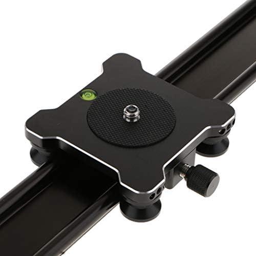 perfk 40cm / 15.7インチアルミニウムDSLRカメラトラックビデオスライダーレール三脚スタビライザーGoPro Canon SonyカムコーダーDV用