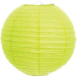 Koyal 12-Inch Paper Lantern, Lime Green
