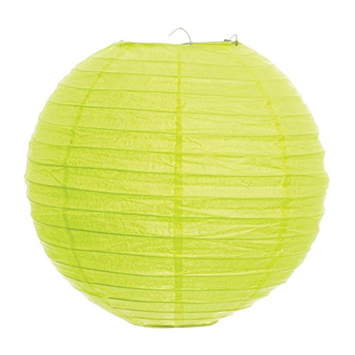 Koyal-18-Inch-Paper-Lantern-Lime-Green-Set-of-6