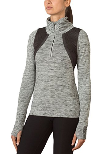 MPG Julianne Hough Women's Carbo Quarter Zip XL Space Dye Black