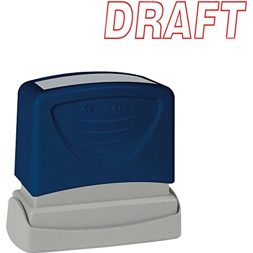 Sparco 60017 DRAFT Title Stamp, 1-3/4 x 5/8