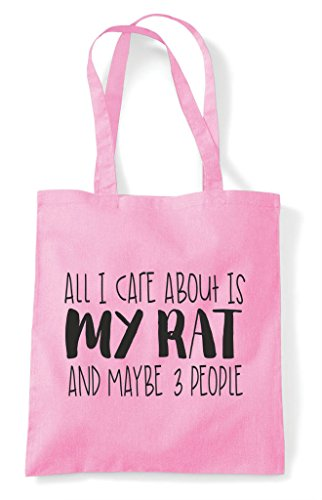 Three Cute Is Animal Tote Care Bag Shopper About Rat People Themed Pink I And Light My Maybe Funny All pBxq8wCnH