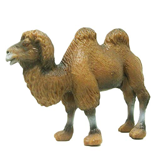 miniflower Wildlife Bactrian Camel Simulation of Animal Models Toy Ornament Figurine Simulation Doll for Ages 3 and Up