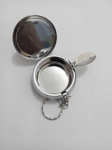 BlackKey Professional Fangirl Round Portable Pocket Cigarette Ashtray Ash Holder with Key Ring -40 by BlackKey (Image #2)