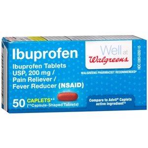 Walgreens Ibuprofen 200 mg Caplets, 50 -