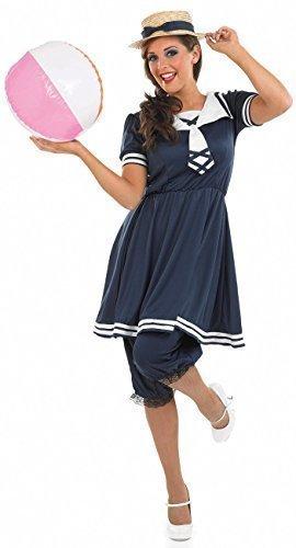 Donna 1920 s Blu Costume da Bagno Vintage Costume Old Time Abbigliamento da  Spiaggia Anni  20 0090a8f903c