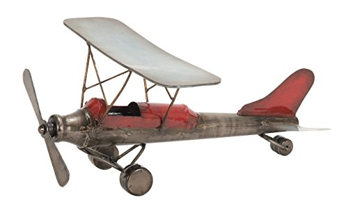 Deco 79 68387 Metal Plane Can Be Places Anywhere ()