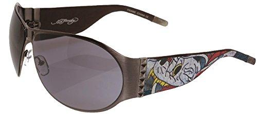 Ed Hardy EHS-011 Men's Battle Designers Sunglasses - Grey...