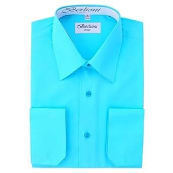 Elegant Men 39 S Button Down Aqua Dress Shirt Xxxlarge 19