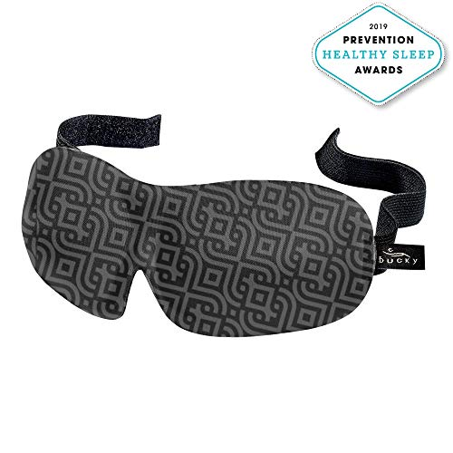 Bucky 40 Blinks Ultralight & Comfortable Contoured, No Pressure Eye Mask for Travel & Sleep, Perfect with Eyelash Extensions - Nouveau
